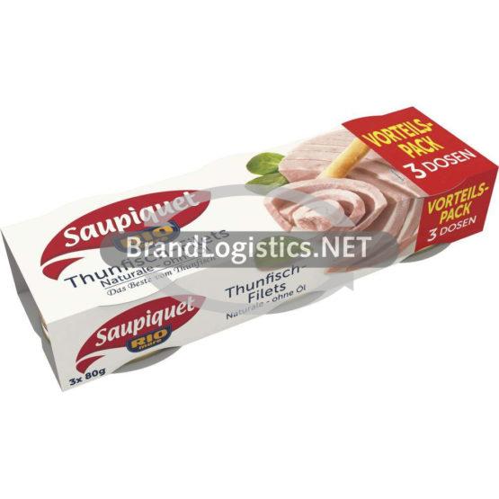 Saupiquet Rio Mare Thunfisch-Filets Naturale ohne Öl 3×80 g