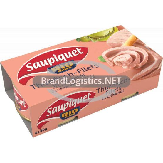 Saupiquet Rio Mare Thunfisch-Filets in Olivenöl 2×80 g