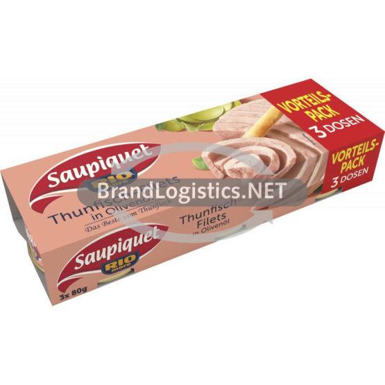 Saupiquet Rio Mare Thunfisch-Filets in Olivenöl 3×80 g