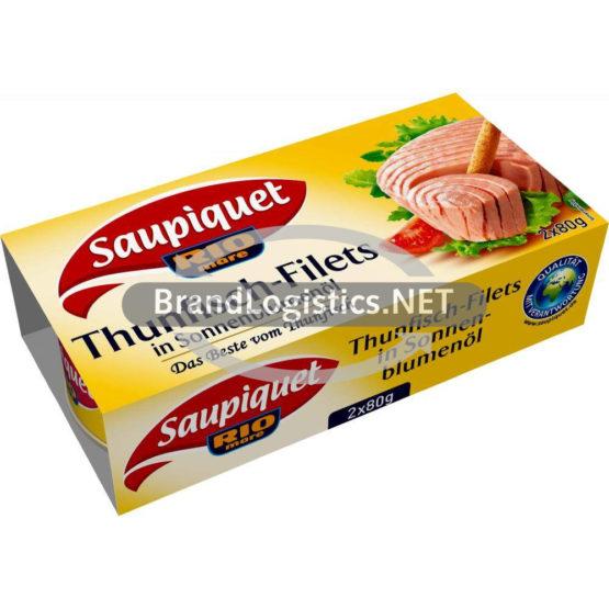 Saupiquet Rio Mare Thunfisch-Filets in Sonnenblumenöl 2×80 g