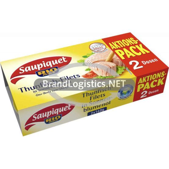 Saupiquet Rio Mare Thunfisch-Filets in Sonnenblumenöl 2×160 g