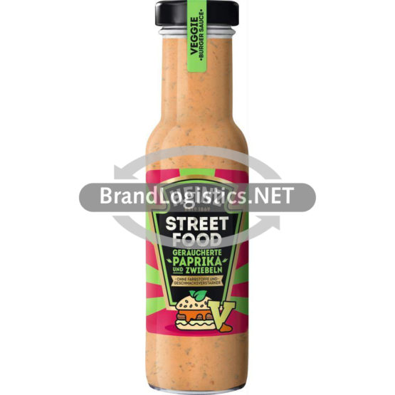 Heinz Streetfood Veggie Burger Sauce Geräucherte Paprika und Zwiebeln 235 ml