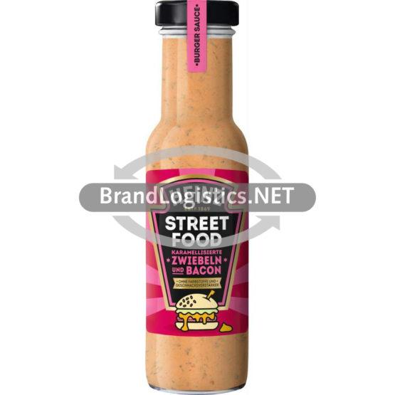 Heinz Streetfood Burger Sauce Karamelisierte Zwiebeln und Bacon 235 ml