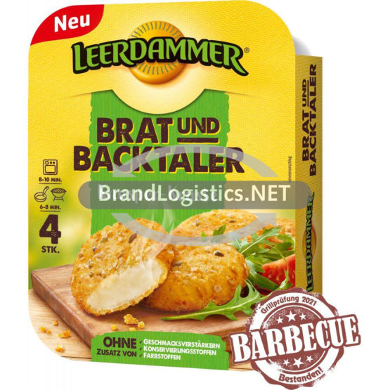 Leerdammer Brat und Backtaler Knusper-Kruste 4×40 g