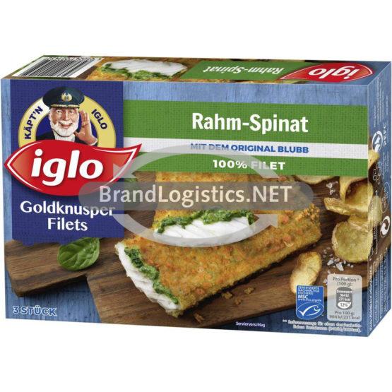 Iglo Goldknusper Filets Rahm-Spinat mit dem Blubb 300 g