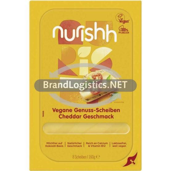 Nurishh Vegane Genuss-Scheiben Cheddar-Geschmack 160 g