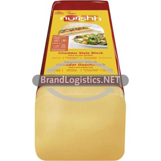 Nurishh Veganer Genuss-Block Cheddar-Geschmack 3 kg