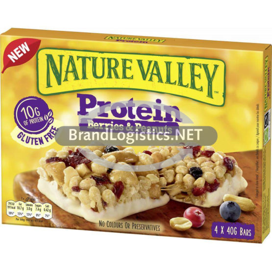 Nature Valley Protein Berries & Peanuts Riegel 4×40 g