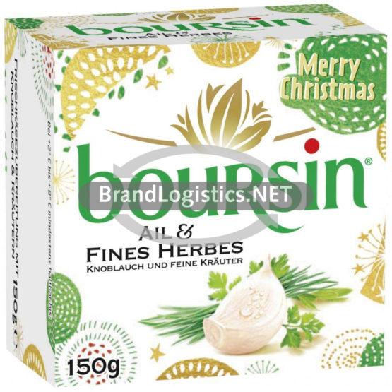 boursin Knoblauch und feine Kräuter Winter-Produktverpackung 150 g