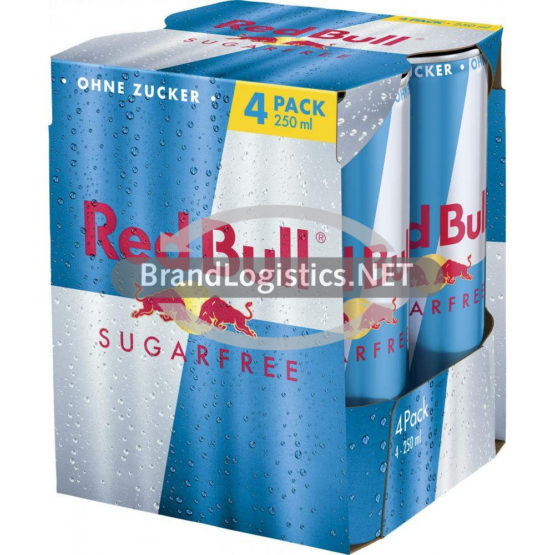 Red Bull Energy Drink Sugarfree 250 ml 4-PK DPG