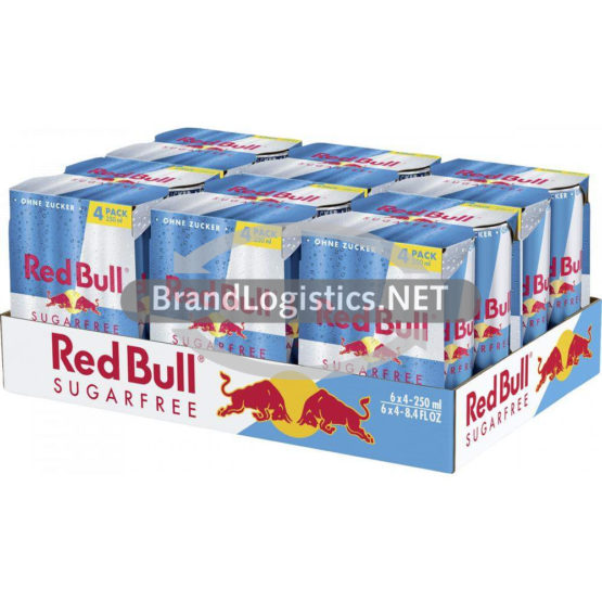 Red Bull Energy Drink Sugarfree 250 ml 4-PK DPG Tray