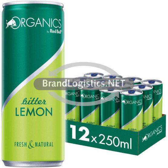 Red Bull Organics Bitter Lemon 250 ml 12er Tray  DPG E-Commerce