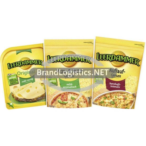 Leerdammer Auflauf-Genuss 160 g und Leerdammer Original 160 g und Leerdammer Pizza- & Pasta-Genuss 160 g