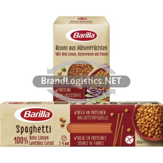 Barilla Risoni aus Hülsenfrüchten Linsen, Kichererbsen und Erbsen 300 g und Spaghetti Rote Linsen