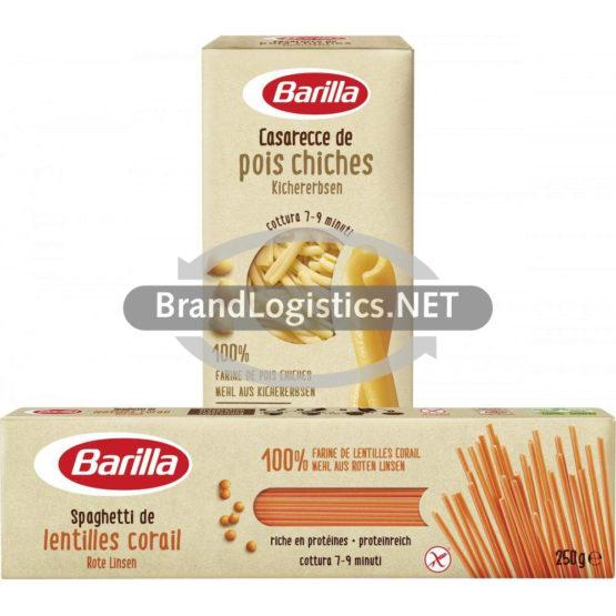 Barilla Spaghetti Rote Linsen 250 g und Barilla Casarecce Kichererbsen 250 g