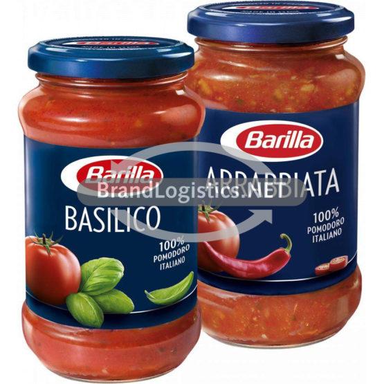 Barilla Pasta-Sauce Basilico 200 g und Barilla Pasta-Sauce Arrabbiata 400 g